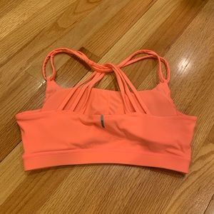 Other - Coral Pink Sports Bra with Cross Strap Back